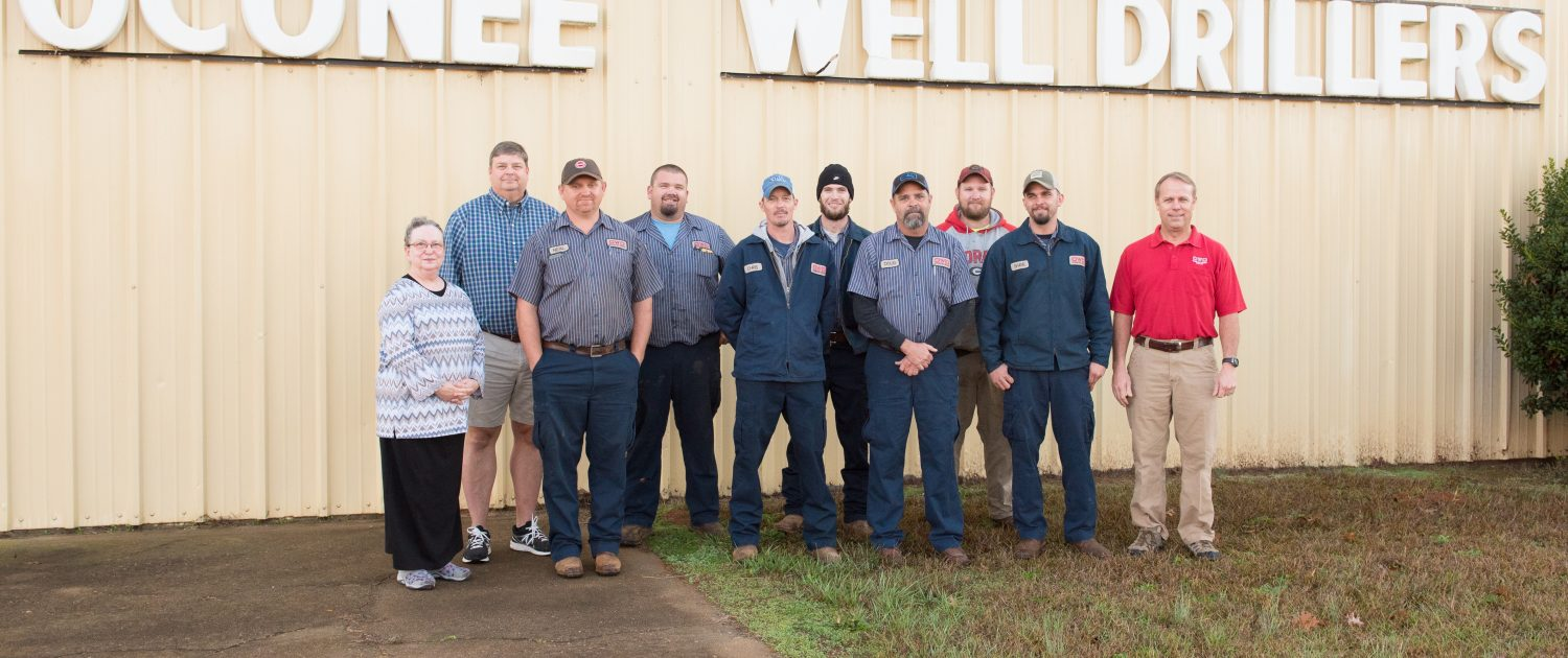 Professional Staff at Oconee Well Drillers